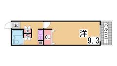 西神中央駅すぐの広々1K^^生活便利^^案内は現地待ち合わせ可^^ 410の間取