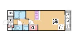神戸女子大生に人気の分譲賃貸 カウンターキッチン・駅近 204の間取