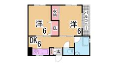 オール洋室 システムキッチン TVモニターホン コンビニやスーパー近く 406の間取