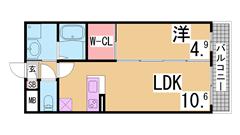 谷上駅目の前 電動シャッター・追焚・システムキッチン・ウォークインクローゼット 203の間取