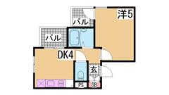 アメニティ東神戸1・2・4番館 4307の間取