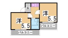 アメニティ東神戸3・5番館 5101の間取