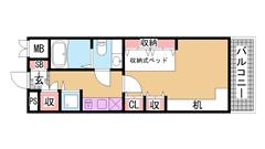 アクセスメゾン神戸 204の間取