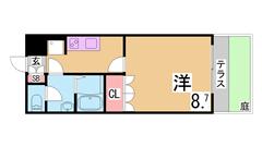 駅まで徒歩圏内^^専用庭付^^インターネット無料^^追い焚き等設備充実^^ 103の間取