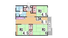 花山東16号棟 502の間取