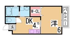 オートロック・システムキッチン・宅配BOX等設備充実^^インターネット無料^^ 201の間取