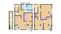 広々4LDK仕切りを開ければ3LDKとしても利用可 スーパーやコンビニすぐ  2.3の間取