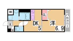 オートロック・システムキッチン・宅配BOX付^^学生様に人気です^^ 102の間取