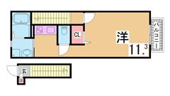 人気の築浅ハイツ^^システムキッチン・シャンプードレッサー等設備充実^^ 203Cの間取