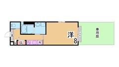 インターネット無料^^システムキッチン オートロック 宅配ボックス 駅近^^ 102B1の間取