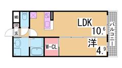 谷上駅目の前 電動シャッター・追焚・システムキッチン・ウォークインクローゼット 207の間取