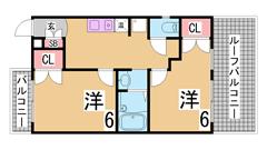 ルーフバルコニー 三点セパレート 振り分けののお部屋 垂水駅徒歩圏内 401の間取