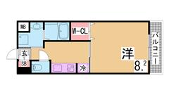 インターネット料金無料^^ウォークインCL・システムキッチン^^宅配BOX付^^ 207の間取