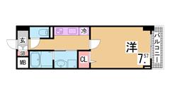 オートロック・システムキッチン付築浅駅近マンション^^ 804の間取