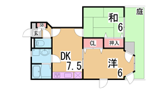 築浅で広々1LDK^^敷地内駐車場有^^設備充実^^ 101の間取