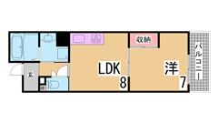 礼金・仲介手数料も不要 神戸市の最大の家賃補助制度で賃料1万ダウン可 107の間取