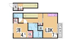 オール電化 システムキッチン 三点セパレート 敷地内駐車場有り^^ 201の間取