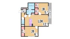 3点セパレート^^おしゃれな室内^^スーパー・駅も近いです^^ 201の間取