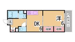 礼金なし 仲介手数料無料 全室南向き  エレベーター 三点セパ 追焚き 大型収納 603の間取