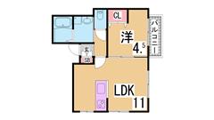 駅近リノベーション物件^^広々12帖の洋室^^オール電化^^ 202の間取