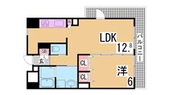 インターネットホームセキュリティ『アイルス』導入 システムキッチン・宅配BOX 901の間取