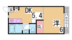 人気の三点セパレート物件^^大型キッチン・シャンプードレッサー・浴室乾燥^^ 103の間取
