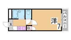 広々1Kで設備充実築浅物件^^人気のカウンターキッチン^^ 203の間取