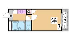 1坪タイプの大きい浴室・システムキッチン・ALSOKホームセキュリティ付 101の間取