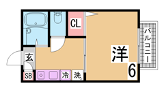 オートロック付の駅近アパート^^システムキッチンIH2口・シャンプードレッサー 303の間取