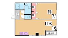 室内リノベーション イオンモール神戸南まで徒歩圏内 システムキッチン 301の間取