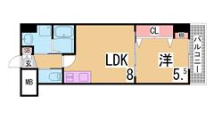 築浅物件・システムキッチン・陽当り良好・EV・AL・追い焚き機能^^ 405の間取