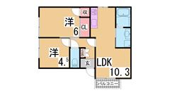 駅・スーパー・コンビニ徒歩圏の大手ハウスメーカー施工ハイツ^^ 203の間取