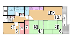 H20年リノベーション^^ペット可(犬猫)^^システムキッチン・浴室新品^^ 204の間取