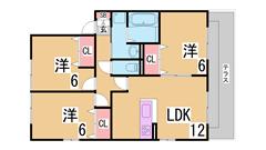 オール洋室 駐車場2台目有り 大手ハウスメーカー施工 人気のカウンターキッチン A102の間取