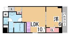 ペットOK^^マリンピア神戸・海すぐの敷金礼金0円物件^^オートロック^^ 401の間取