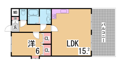 垂水駅・海もすぐの人気物件 室内もきれいです 301の間取