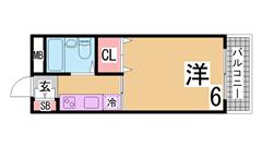 敷金礼金0&0 こども病院や神戸女子大学須磨キャンパスも歩いてスグ 202の間取
