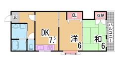 インターネット料金無料^^駐車場2台目有り^^ 205の間取