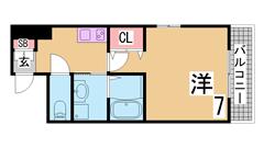 築浅カウンターキッチン・追焚付のかわいいハイツ^^小・中学校も近いです^^ 102の間取