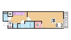 浴室乾燥・広めのキッチン・築浅ハイツ^^シャンプードレッサーもついてます^^ 201の間取