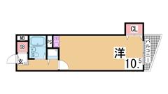 インターネット料金無料 兵庫駅3分の立地 礼金無しプラン有 202の間取