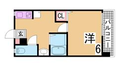 敷金、礼金ゼロ リノベーションマンション システムキッチン 三点セパレート  508の間取