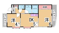 ペットOK(犬猫) システムキッチン 宅配BOX オートロック 506の間取