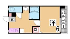 敷金、礼金ゼロ リノベーションマンション システムキッチン 三点セパレート  207の間取