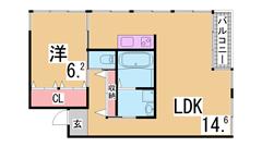 大手ハウスメーカー施工の築浅ハイツ^^イオン・アウトレットもすぐ^^ 202の間取