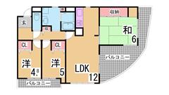兵庫駅近くにファミリー物件 駐車場あり エレベーター オートロック付き 702の間取